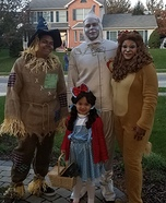 Dorothy and her Crew Homemade Costume