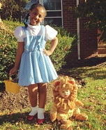 Dorothy and Lion From The Wizard of Oz Homemade Costume