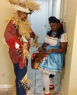 Dorothy and Scarecrow Couple Homemade Costume