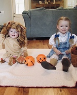 Dorothy and the Cutest Cowardly Lion Costume