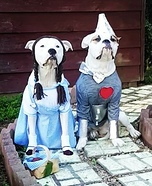 Dorothy and Tin Man Dogs Homemade Costume
