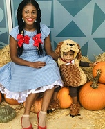 Dorothy and Toto Homemade Costume