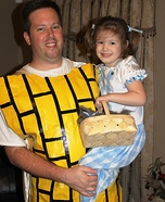 Dorothy and the Yellow Brick Road Homemade Costume