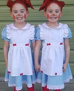 Double Raggedy Anns Homemade Costume
