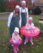 Fun family Halloween costume ideas - Doughnuts and the Makers Family Costume