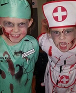 Dr. Makewell & Nurse Bloody Homemade Costume