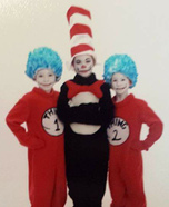 Dr Suess Cat in the Hat and Thing 1 and Thing 2 Homemade Costume