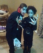 Dracula and Edward Scissorhands Homemade Costumes