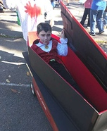 Dracula in a Coffin Homemade Costume