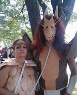 Dragon and Dragon Rider Homemade Costume