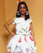 Dress from Waste Homemade Costume