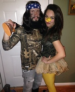 Coolest couples Halloween costumes - Duck Dynasty Willie and his Duck