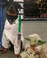 Duke Skywalker Dog Homemade Costume
