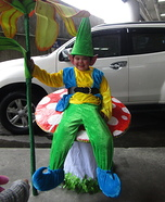 Dwarfy on Mushroom Homemade Costume