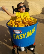 DIY Easy Mac Wheelchair Costume