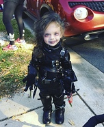 Infant Edward Scissor Hands Homemade Costume