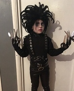 Boy's Edward Scissorhands Homemade Costume