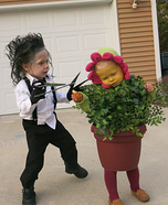 Edward Scissorhands and a Flower Pot Homemade Costume