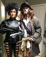 Edward Scissorhands and Captain Jack Sparrow Homemade Costume