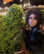 Edward Scissorhands and his Topiary Creation Homemade Costume
