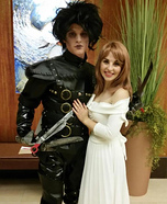 Edward Scissorhands and Kim Boggs Homemade Costume