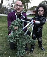 Edward Scissorhands and TRex Hedge Homemade Costume