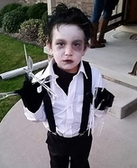 Edward Scissorhands Boy Homemade Costume