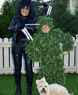 Edward Scissorhands, Bush and Hairdo Homemade Costume