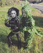 Edward Scissorhands & Dinosaur Bush Homemade Costume