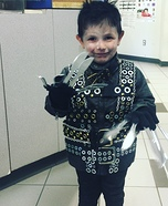 Edward Scissorhands Toddler Homemade Costume