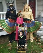 Egyptian Family Homemade Costume