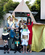 Egyptian Family Homemade Costume