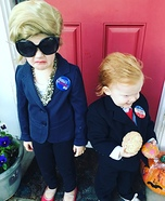 Election 2016 Hillary & Trump Homemade Costume
