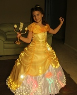 Halloween costume ideas for girls: Electrical Light Parade inspired Belle Costume
