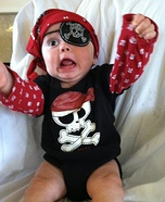 Costume ideas for baby's first Halloween - Pirate Baby Costume