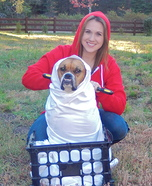 Costume ideas for pets and their owners: Elliot and E.T. Costume