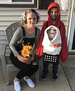 Elliot and Gertie and ET Homemade Costume