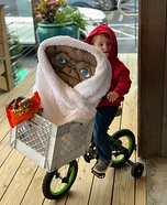Elliott and ET Homemade Costume