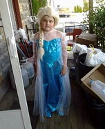 Elsa Frozen Homemade Costume