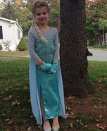 Homemade Elsa Costume for Girls