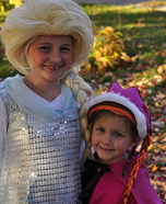Elsa and Anna Homemade Costumes