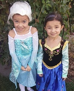 Elsa and Anna from the movie Frozen Costume