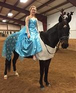 Elsa and Sven Homemade Costume
