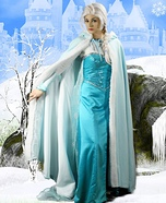 Elsa from Frozen Homemade Costume