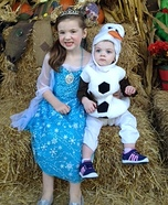 Elsa & Olaf Homemade Costume
