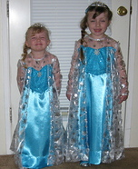 Elsa sisters from Frozen Homemade Costume