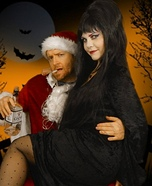 Elvira and Bad Santa Homemade Costume