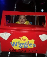 Emma Wiggle in her Big Red Car Homemade Costume