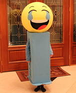 Emoji PEZ DIspenser Homemade Costume
