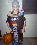 Energizer Battery costume